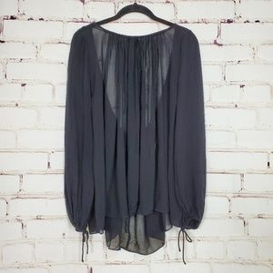 Zara Whimsical Shirred Draped Top